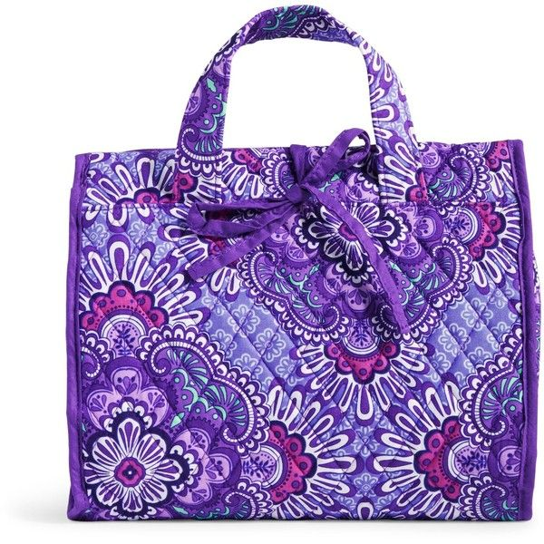 Vera Bradley Hanging Organizer in Lilac Tapestry ($48) ❤ liked on Polyvore featuring lilac tapestry