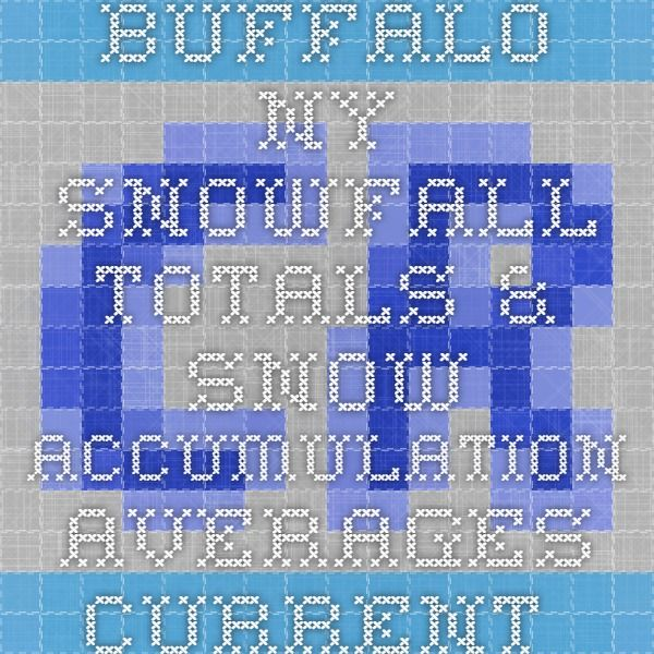 Buffalo NY Snowfall Totals & Snow Accumulation Averages - Current Results