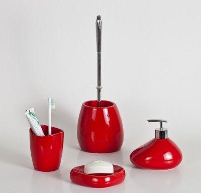 Primanova Bistro Banyo Seti Kırmızı