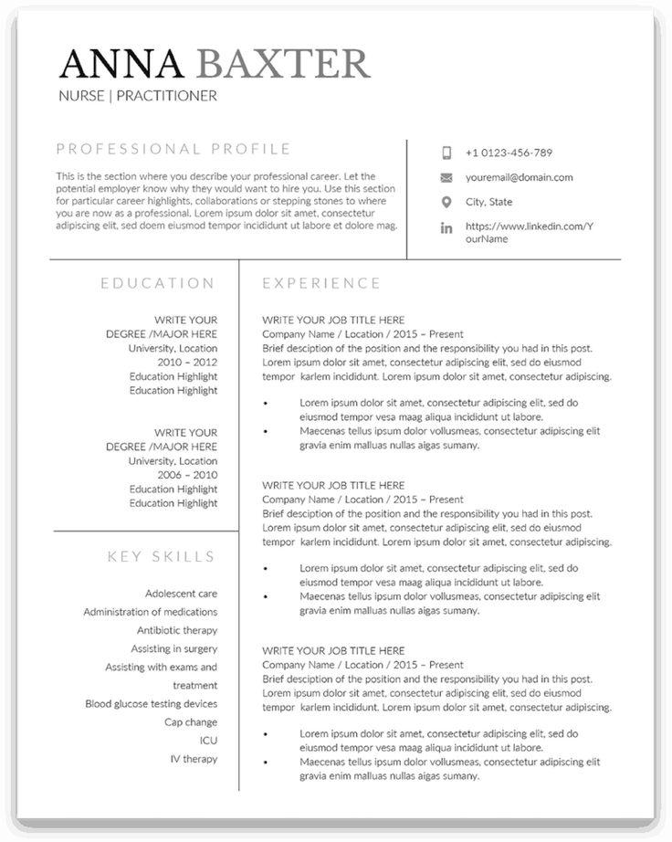 41++ New graduate family nurse practitioner resume ideas