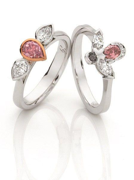 Pink Rosé Diamond rings
