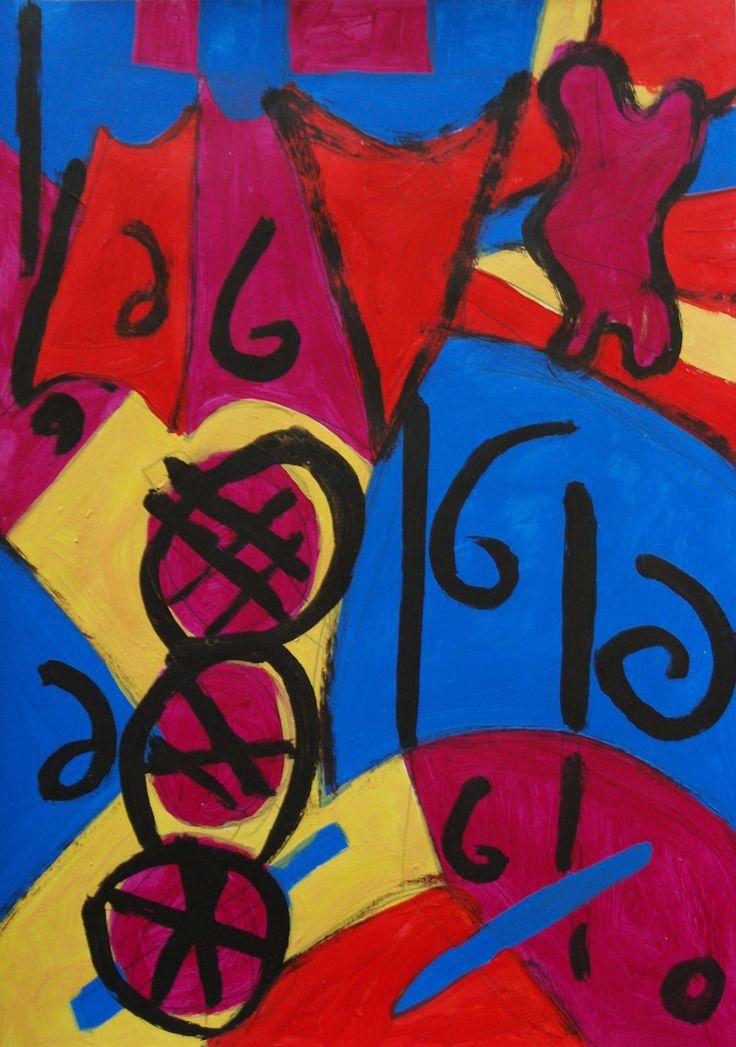 Acrylic on paper 29.5cm x 21cm