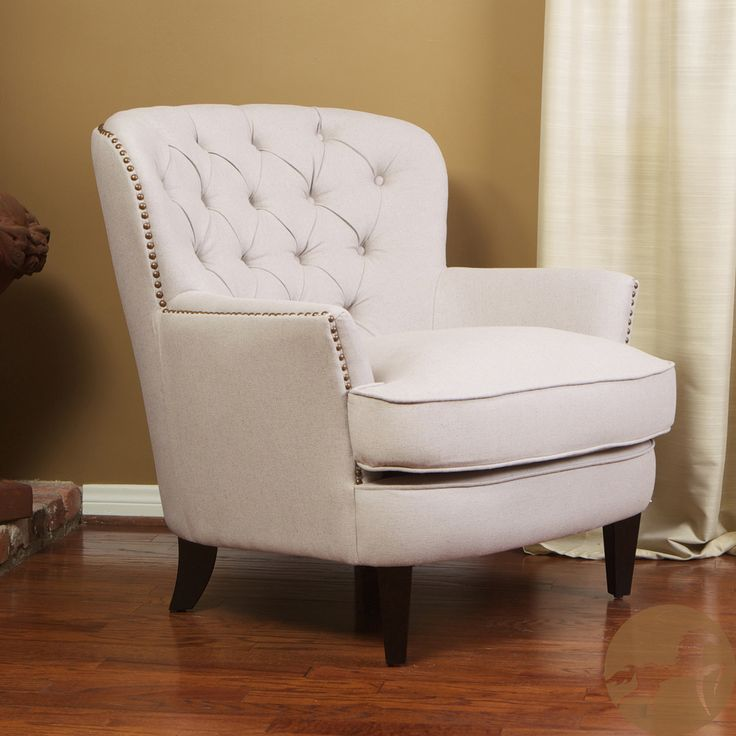 Christopher Knight Home Tafton Tufted Natural Fabric Club