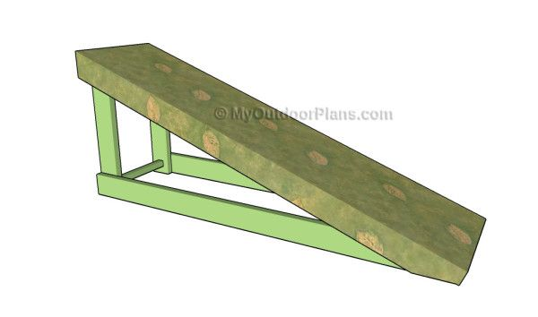 how to build a wood ramp to shed