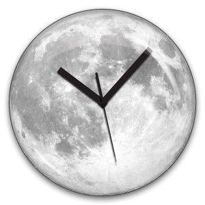 Reloj Luna Fluorescente - Fluorescent Moon Clock