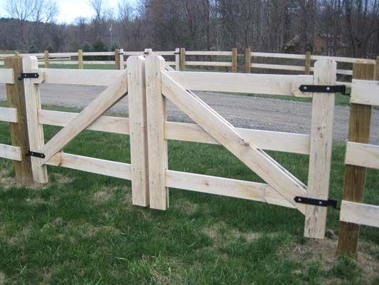 3 Rail Heavy Duty Double Drive Paddock Gates Farm Gates