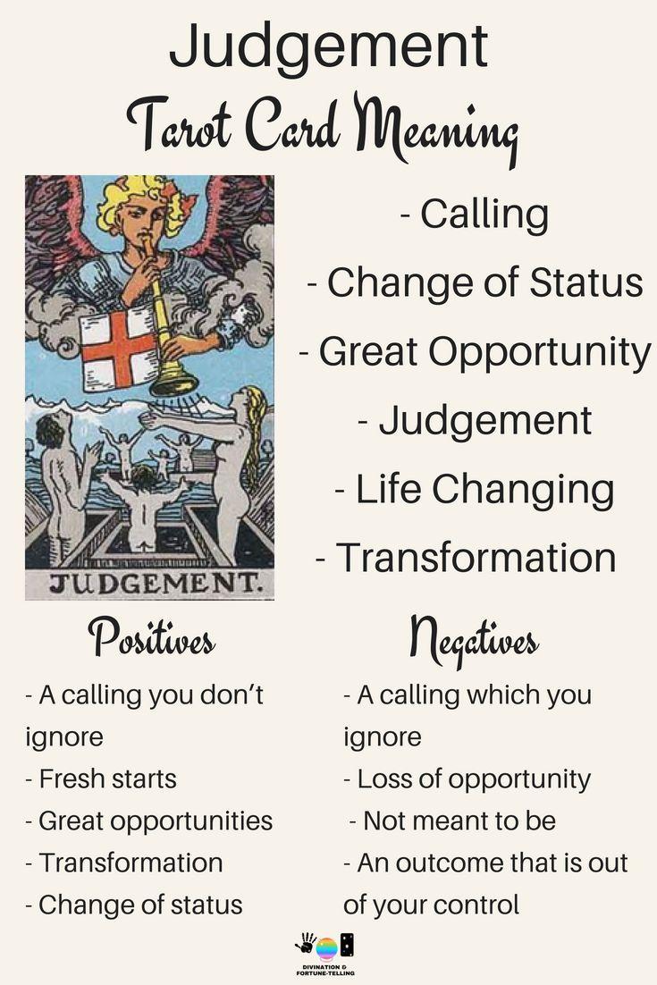 Future Tarot Meanings Judgment Tarocchi Spiritualita E Sciamanismo