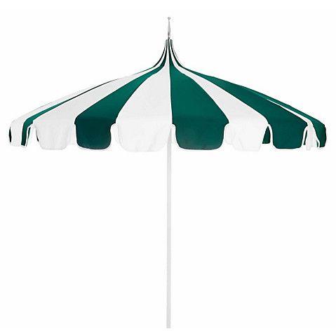 Pagoda Patio Umbrella   Green/White   California Umbrella
