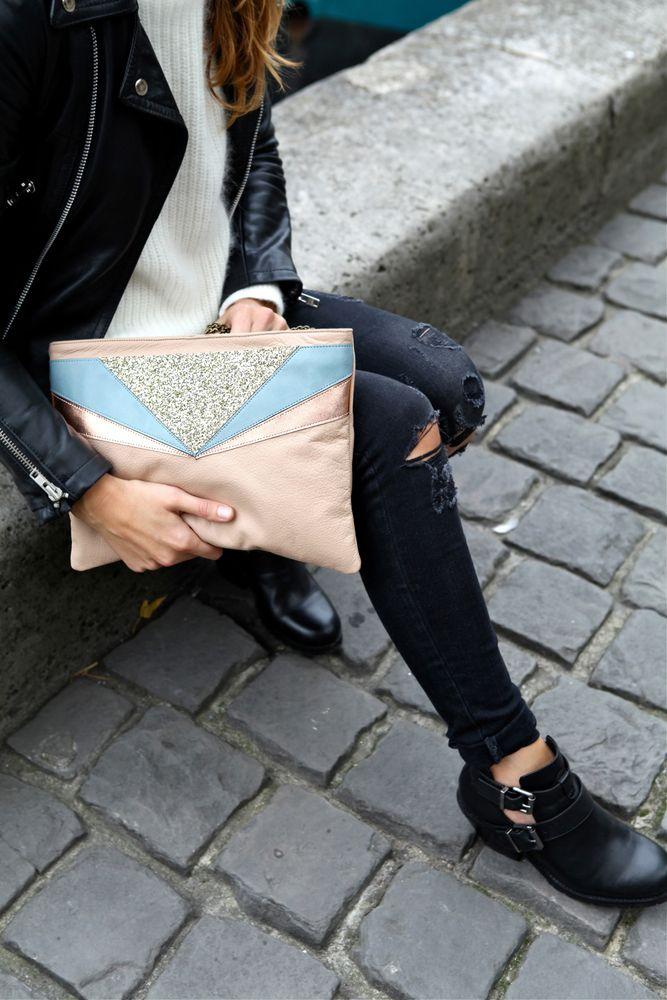 Chouette Fille — Sac ANNA Nude/Or © Aurore Vinot