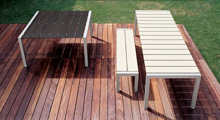The Sushi Outdoor collection comprises a selection of rectangular tables and benches, constructed from a series of Alucompact laminated slats, making the range not only sturdy, but incredibly ...