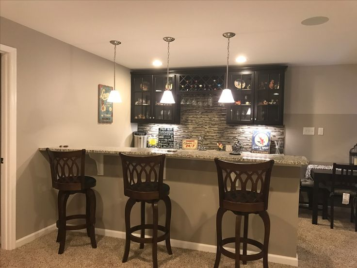 Ryan homes Rome model finished basement wet bar
