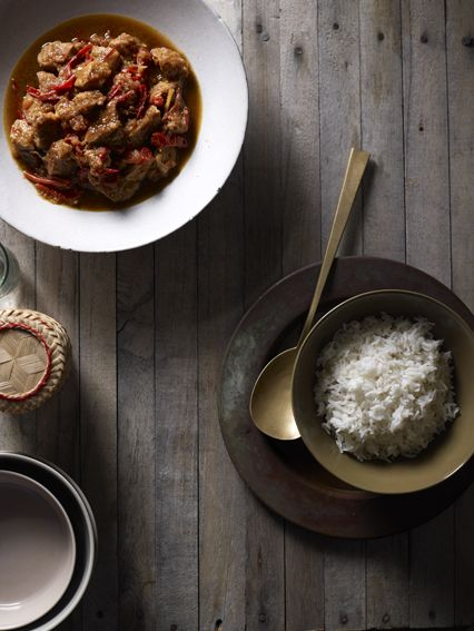 Slow-cooked pork curry, Balinese-style.