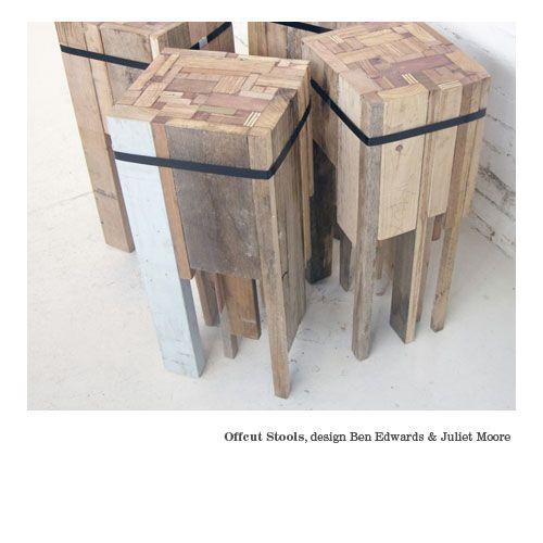 Offcut Stools, Ben Edwards & Juliet Moore