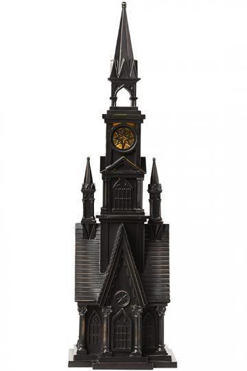 This Intricately Detailed Haunted Church Lights Up For A Spooky Scene Inspired By Gothic Architecture