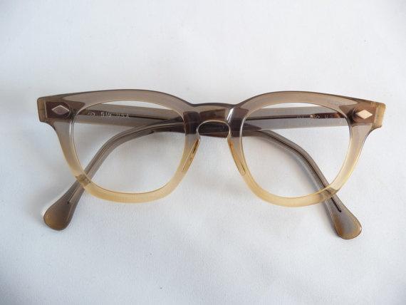 Glasses Frames Usa : 50s Deadstock Vintage Crystal Two Tone Fade Horn Rim ...