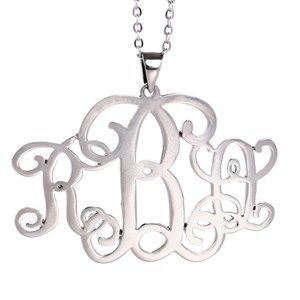 Pair this stylishly silver plated necklace with your other accessories and be the talk of the town. This brass alloyed monogram necklace can be yours with your name's initials and customized length. So, grab this creativity at www.expresskaro.com
