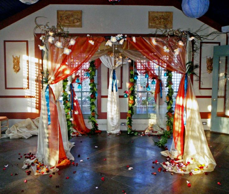 Indian Wedding Arch We Could Use Sari Fabric For Our