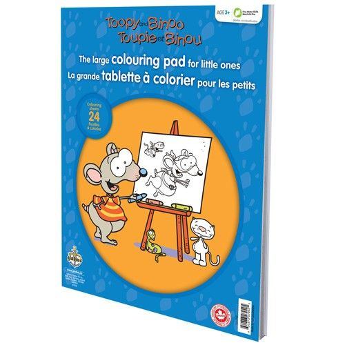 Toopy and Binoo - Large Colouring Pad for Little Ones | 30326610 | RP: $12.99, SP: $9.99