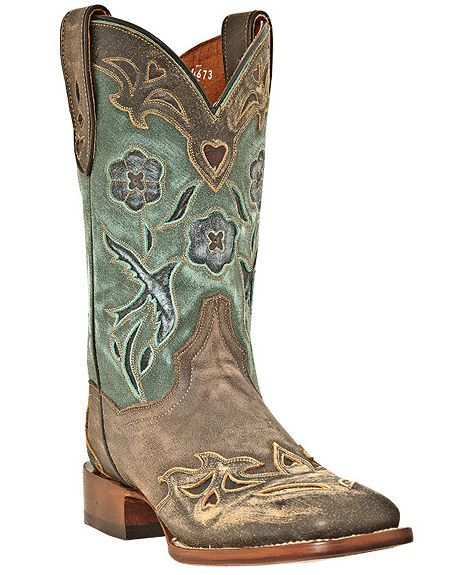 Dan Post Blue Bird Wingtip Cowgirl Boots - Square Toe - Sheplers. these are my new found interest.... Must get!!