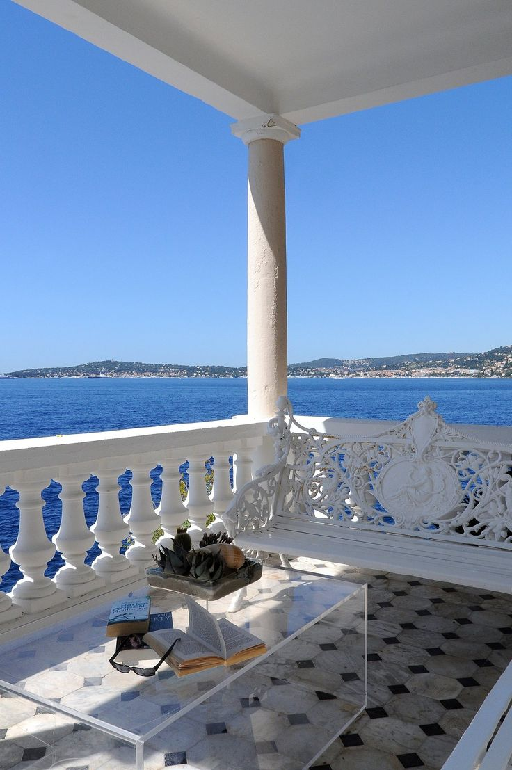 what a view, what a reading corner - I want to live there - Cap Estel - Eze, France