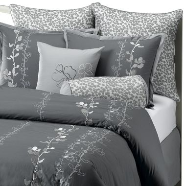 Gray bedspreads garden nights comforter set by bed bath - Bed bath and beyond bedroom furniture ...