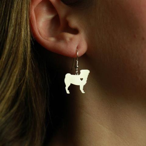 Handmade Pug Earrings