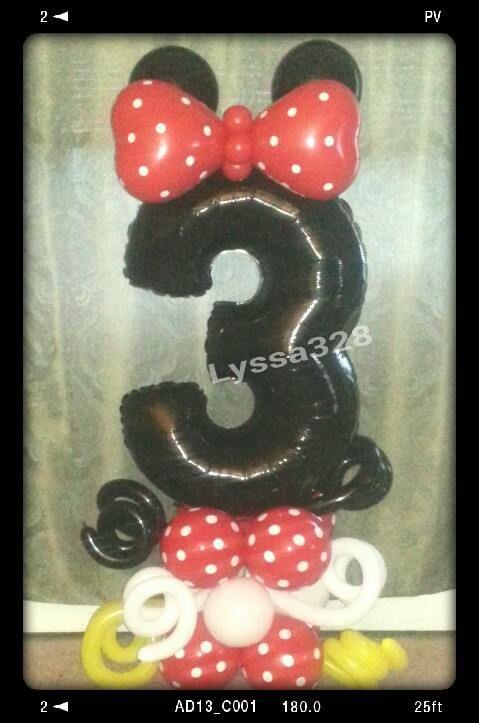 Disney Minnie Mouse Mylar # 3 Birthday Balloon Column. Mickey mouse clubhouse