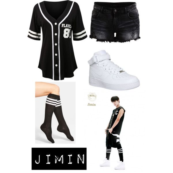 BTS Jimin inspired outfit by haruka-akemi on Polyvore featuring polyvore fashion style Arthur George VILA NIKE kpop bts BangtanBoys jimin