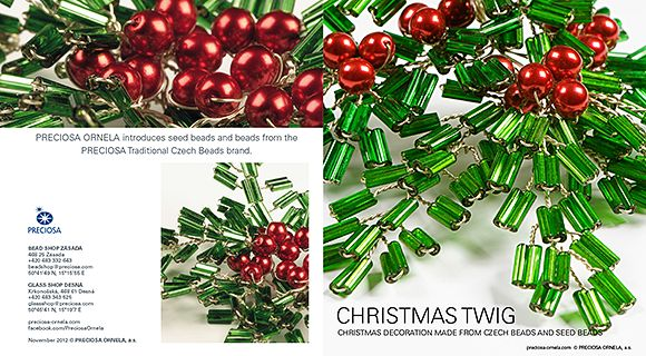 Christmas decorations made from Czech PRECIOSA seed beads