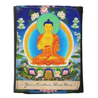 Cool oriental tibetan thangka god tattoo art women's Vintage Small Leather Wallet with dedication #women #wallet #oriental #mandala #thangka #god #classy #sassy #vintage #dedication #gift
