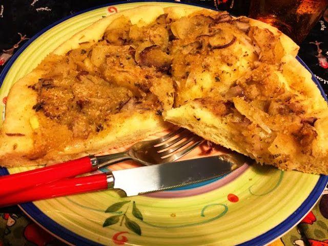 la pizza con le patate  nel  fornetto estense