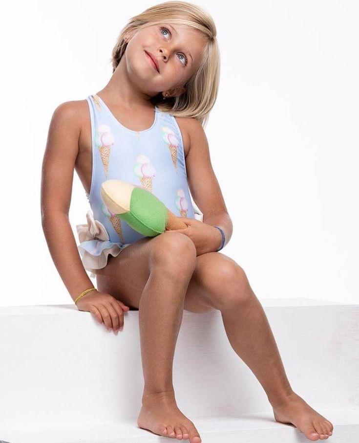 Girls Ice Cream Swimsuit