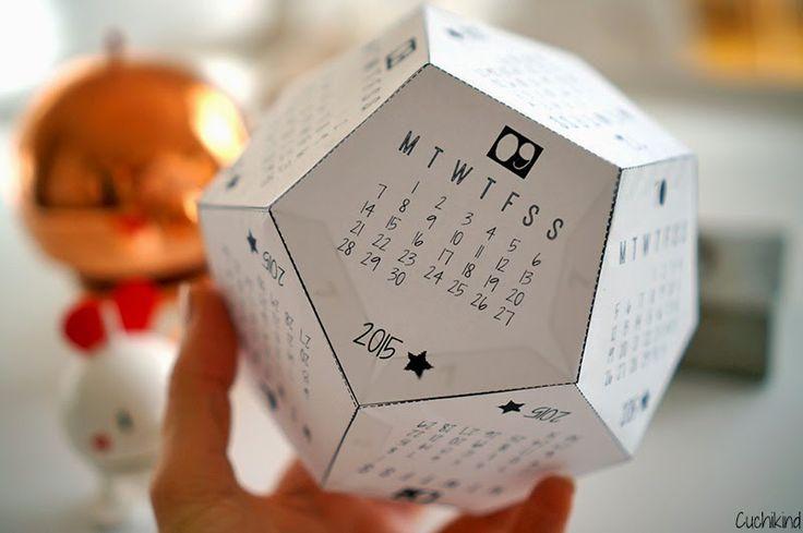 FREE printable 2015 DIY calendar