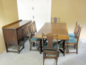 Antique Dining Chairs EBay | Antique Dining Set Buffet Server Table 6 Chairs  | EBay