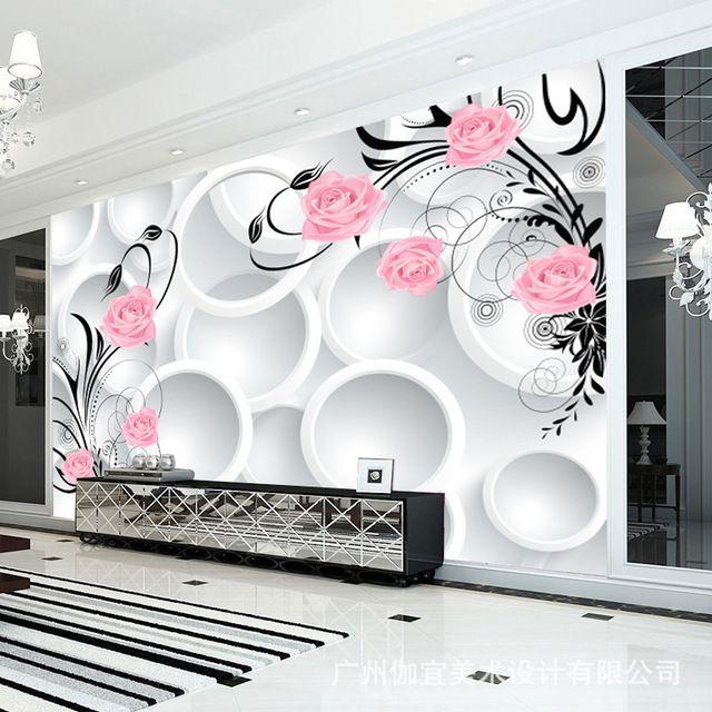Moderno 3d abstrato flor Wallpapers murais De Parede Papel De Parede 3d murais De Parede paisagem grandes murais De Parede Moderno romântico