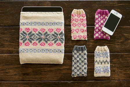Sweetheart Gadget Covers from Interweave Knits Gifts 2014. What perfect knitted gift ideas!