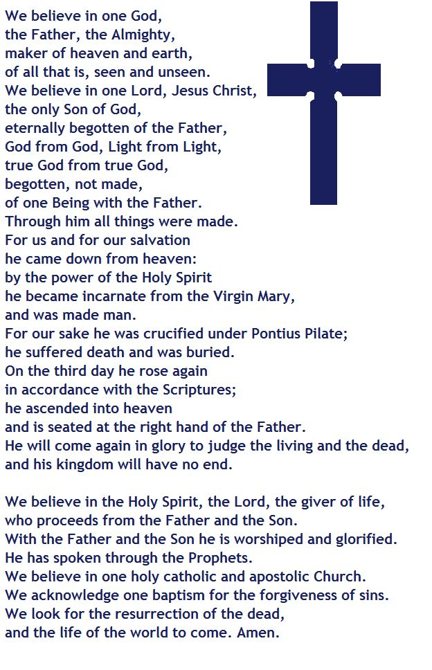 This is the Nicene Creed (the version that is in the BCP).  One of the most important statements of faith in the Church.