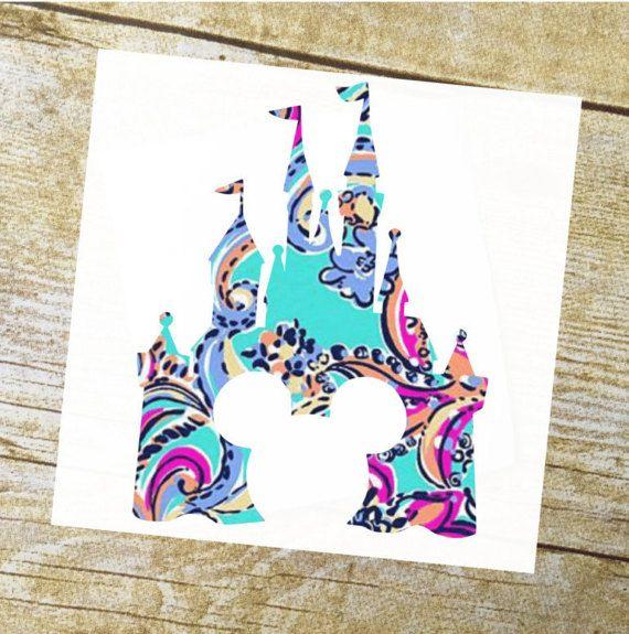 Disney castle / Disney castle decal / Disney decal / Disney sticker / Mickey decal / Disney ears / Disney decal yeti / Yeti decal / Yeti cup