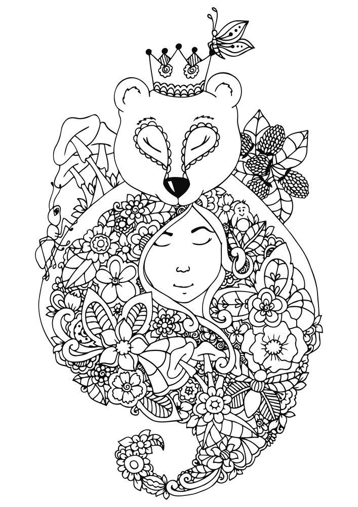 Animal Kingdom Coloring Book Bear 299 Best Images On Pinterest