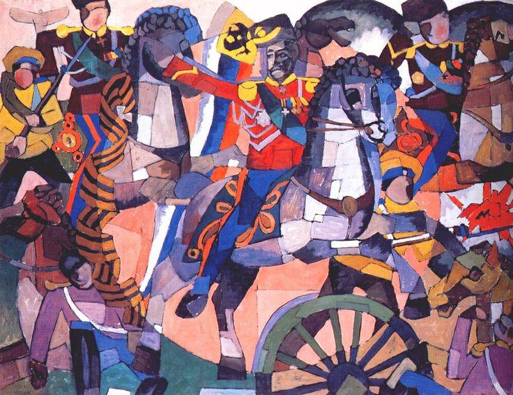 https://www.wikiart.org/ru/aristarkh-lentulov     Битва победы     Аристарх Лентулов · 1914 г.