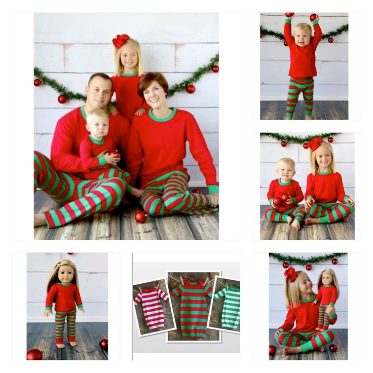 Personalized Christmas Pajamas, Family Christmas Pajamas, Family photo props, Christmas Pajamas by PitterPattersons on Etsy https://www.etsy.com/listing/167319583/personalized-christmas-pajamas-family