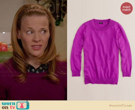 Daphne's purple sweater on Switched at Birth.  Outfit Details: http://wornontv.net/34595/ #SwitchedatBirth