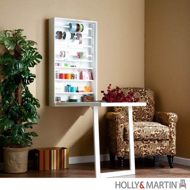 Holly U0026 Martin Wall Mount Space Saver Desk   White This Innovative, Wall  Mount