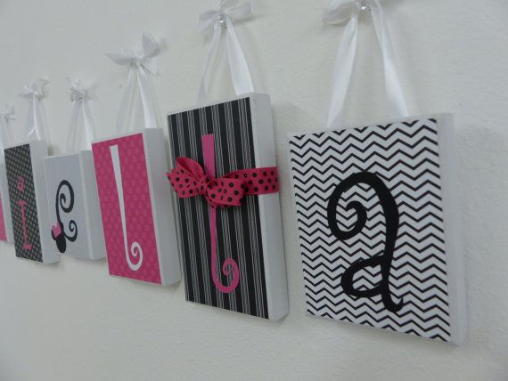 girl room decor personalized name block letters home decor custom gift girls bedroom decor nursery minnie mouse baby girl decor baby block