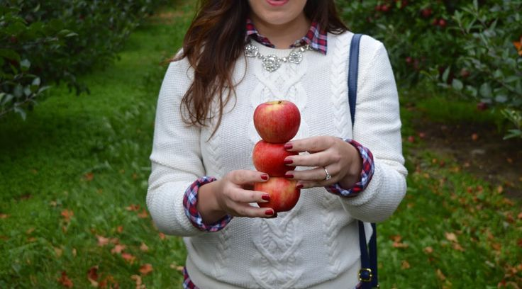 Apple picking outfit, plaid