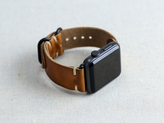 Handmade Apple Watch Band // Horween Leather Watch by choicecuts
