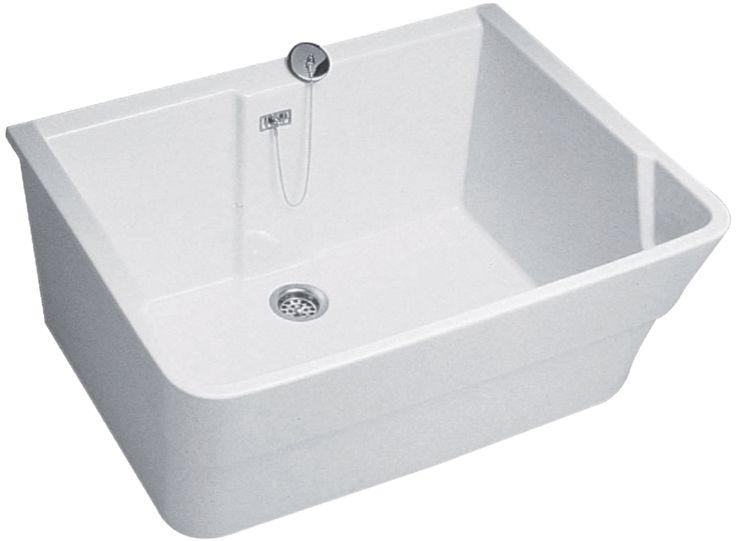 Bac receveur GARDA L74 cm, céramique blanc Réf 00733500000 - ALLIA - Sanitaire -CEDEO