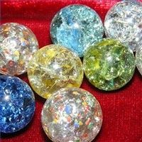 MADE - Baked marbles: put the hot marbles in ice water and they will crack inside.