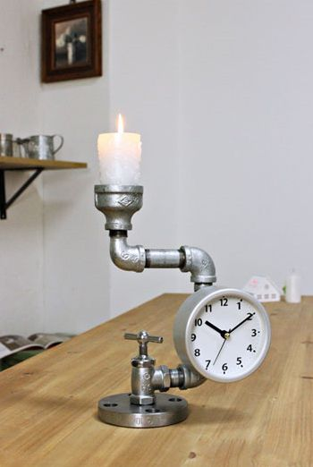 [바보사랑] 촛대겸, 시계겸, 인테리어소품겸 1석 3조 아이템! /시계/촛대/빈티지/소품/인테리어/파이프/Watches/Candlestick/vintage/Accessories/Interior/Pipes