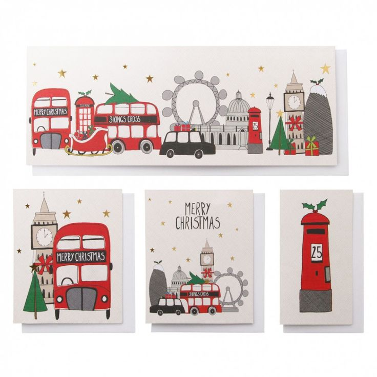 London Christmas cards - box of 20